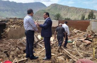 بازدید مدیرعامل بیمه میهن از مناطق سیل زده استان لرستان